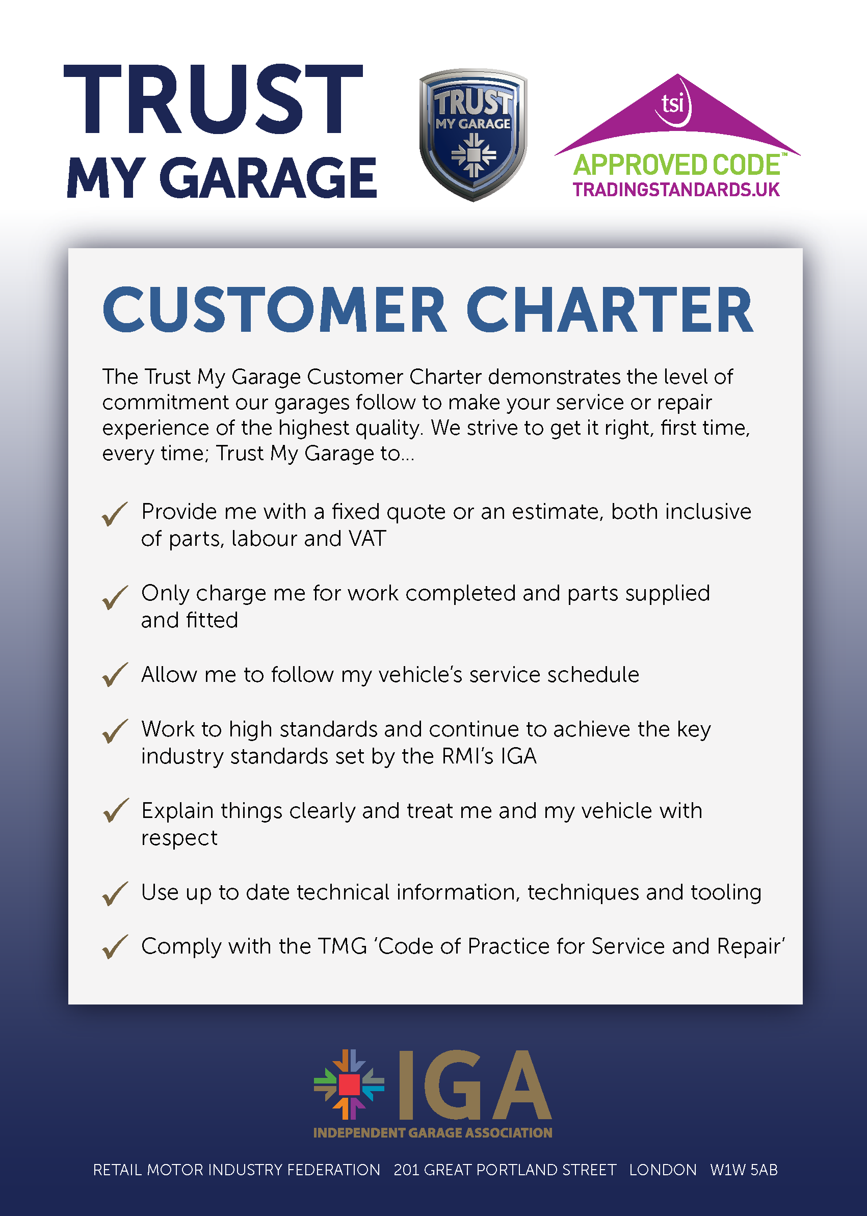 sample customer service charter Customer service charter as a customer of a smartgroup company, you can expect a simple and rewarding experience that is easy to understand and even easier to manage and we're proud to be accredited by the customer service institute of australia (csia.